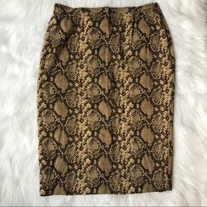 Michael Kors snake print pencil skirt